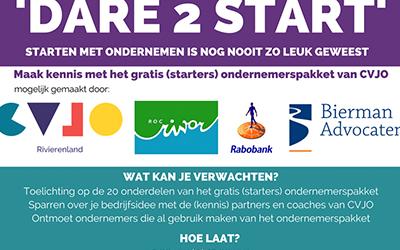 CVJO organiseert starters event 'Dare 2 Start' voor ZZP'ers.