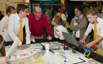 Opperste concentratie bij First Lego League op Lek en Linge