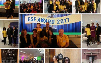 Werkzaak Rivierenland bij uitreiking ESF Award