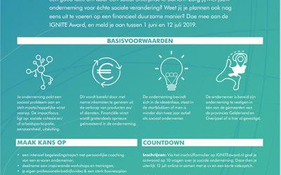 IGNITE Award zoekt startende sociaal ondernemers in Oost-Nederland