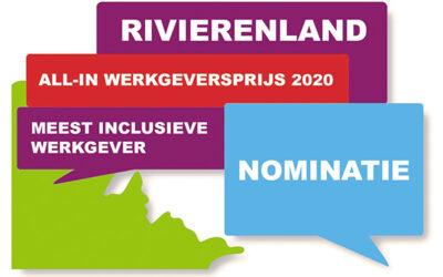 Nomineer nu! All-in Werkgeversprijs Rivierenland 2020